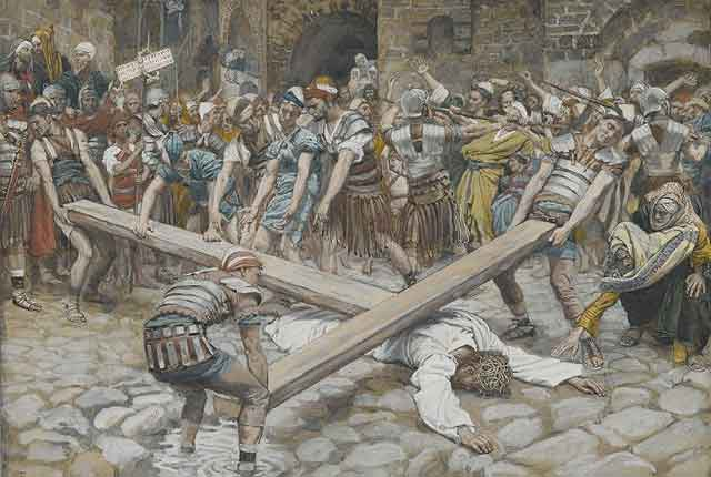Simon_the_Cyrenian_Pressed_to_Carry_the_Cross_with_Jesus_James_Tissot_1886