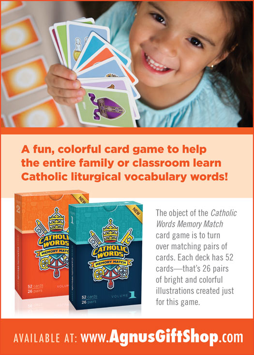 Catholic Words and Games Cards and Activities