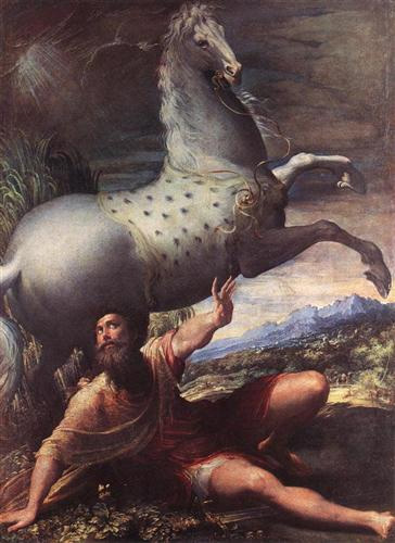 The Conversion of St. Paul, Parmigianino, 1528