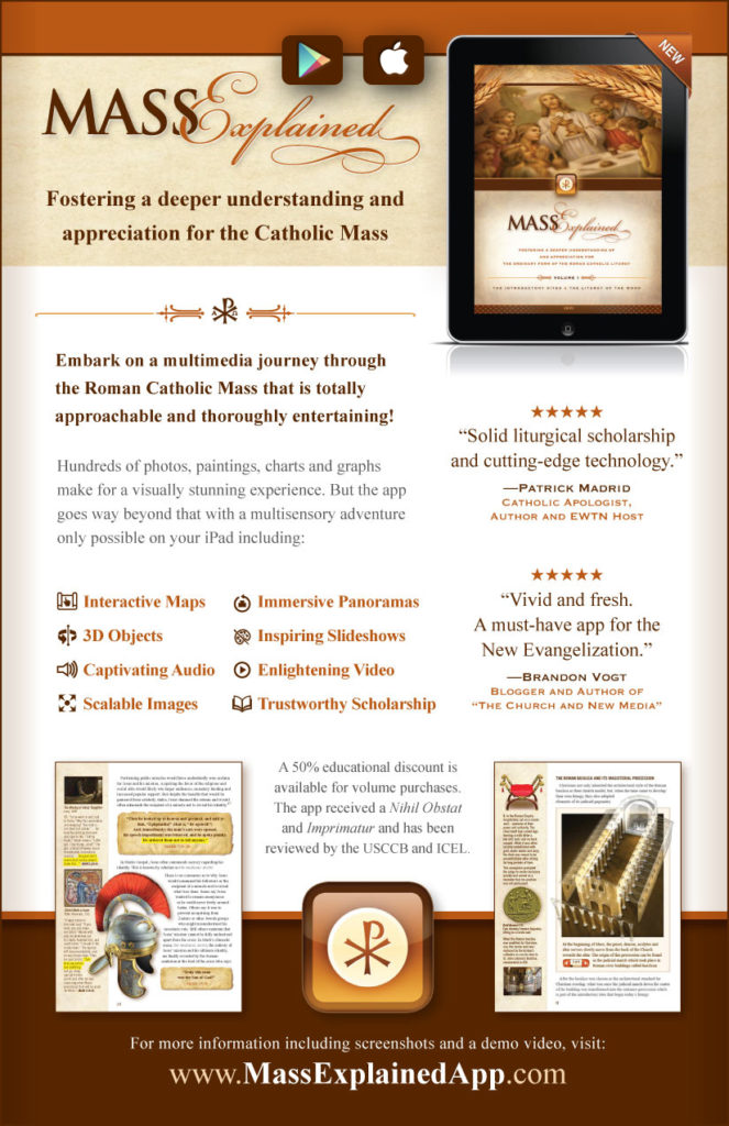The Mass Explained App for iPad or Android Tablets